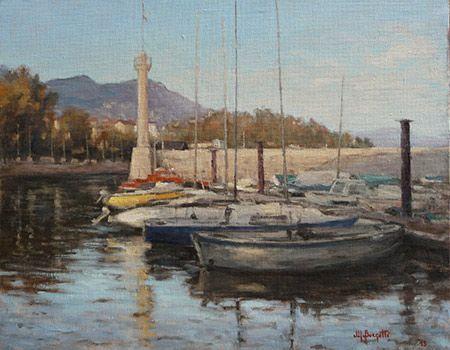 Emozioni e colori di Mauro Borgotti nel paesaggio del Lago Maggiore