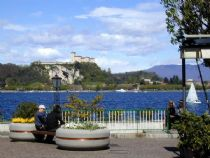Arona and the fortress of Angera