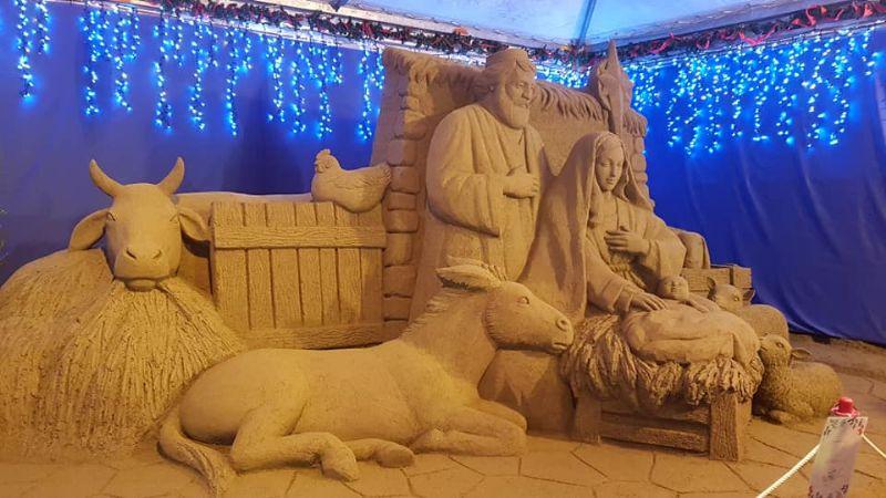 Natale a Verbania: un maxi presepe di sabbia